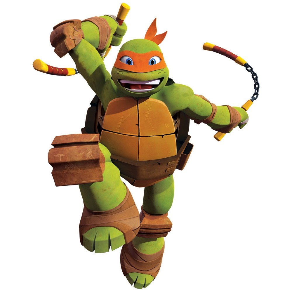 Amazon.com: TMNT Michelangelo Wall Accent Ninja Turtles Self ...