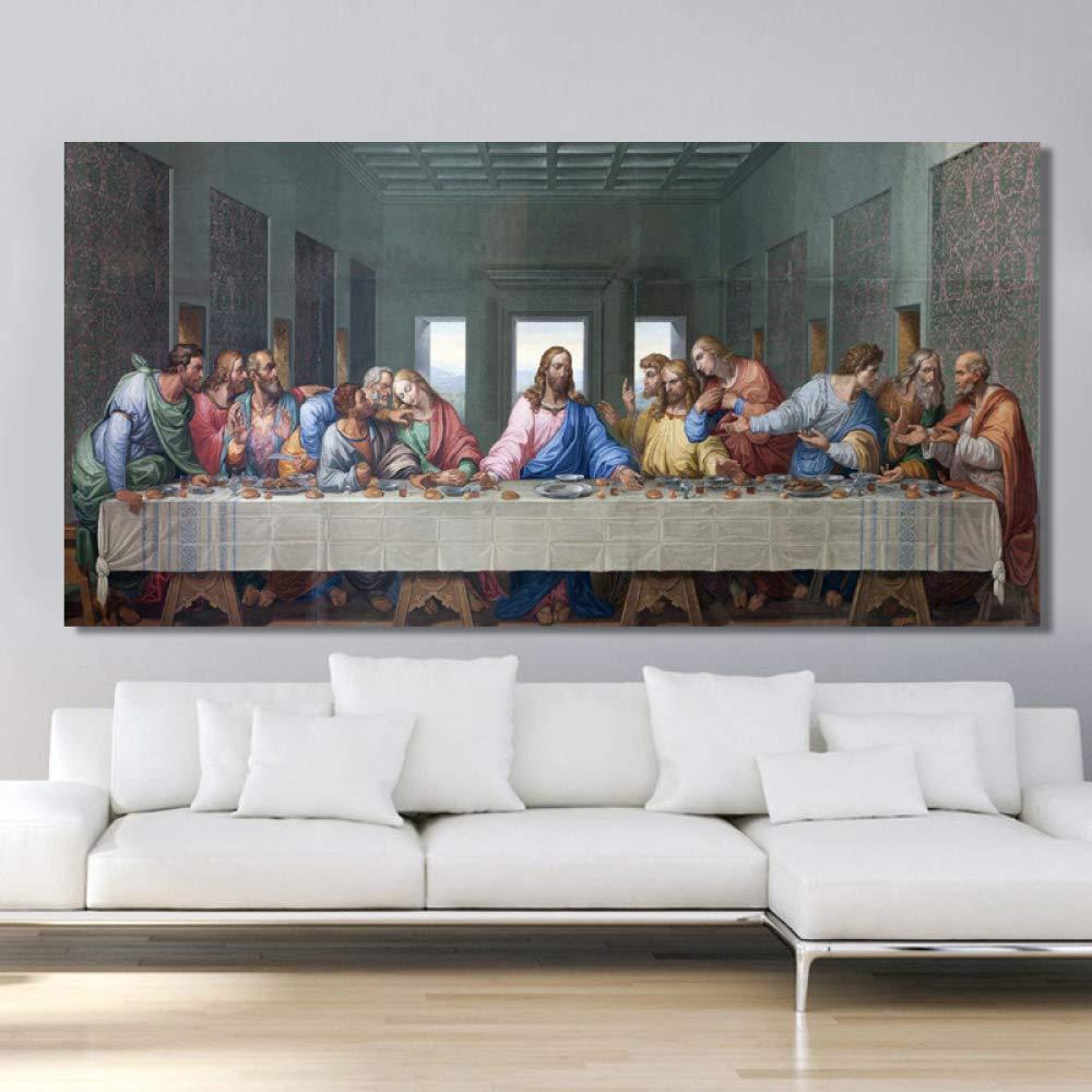 tzxdbh Cartel de la Última Cena y Mural de Grabado Pintura ...