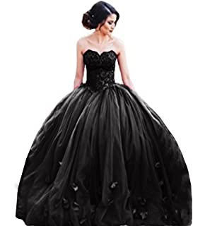 The Peachess 2017 Strapless Ball Gown Princess Quinceanera Dresses Lace Bodice