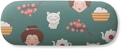 Sakura Repeat Japan Pattern Glasses Case Eyeglasses Clam Shell Holder Storage Box
