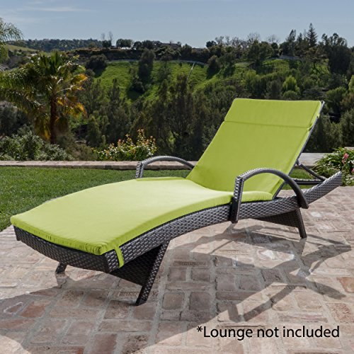 Christopher Knight Home 300983 Sienna Ckh Outdoor Chaise Lounge Cushion, green