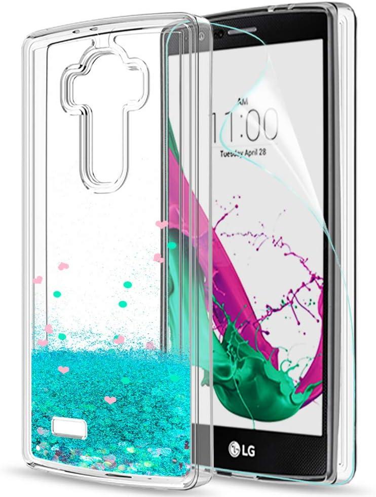 LeYi Funda LG G4 Silicona Purpurina Carcasa con HD Protectores de ...