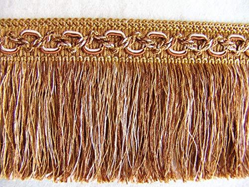Cut Fringe Brush (Bronze/Gold by The Yard ~ Beautiful 3 1/2