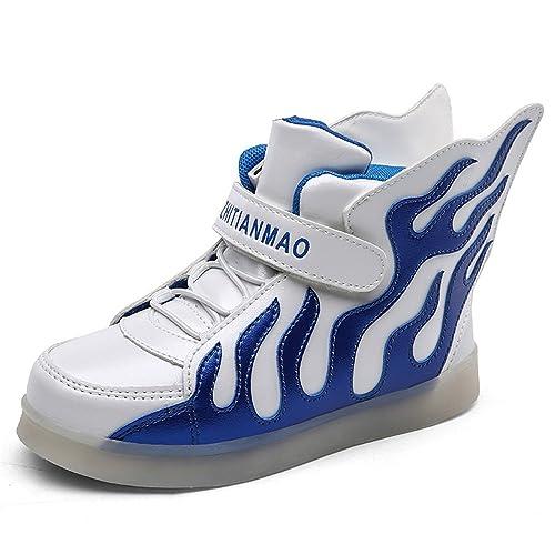 Amazon.com: LED Light Up High parte superior alas Zapatos ...