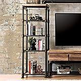 Furniture of America Jarod Industrial Pier Cabinet in Antique Black