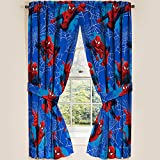 """Marvel Ultimate Spiderman Spider-Man Panels Drapes Curtains, Set of 2, 42"""" x 63"""" each"""