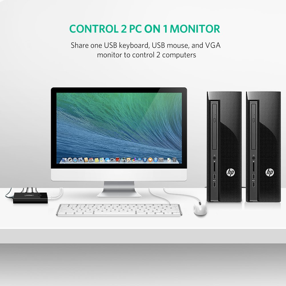 Kvm-switches VertrauenswüRdig 2 Ports Usb 2.0 Vga Svga Kvm Switch Box Adapter 2 Computer Monitor Tastatur Maus Mit Zwei Kabel Kvm-21ua
