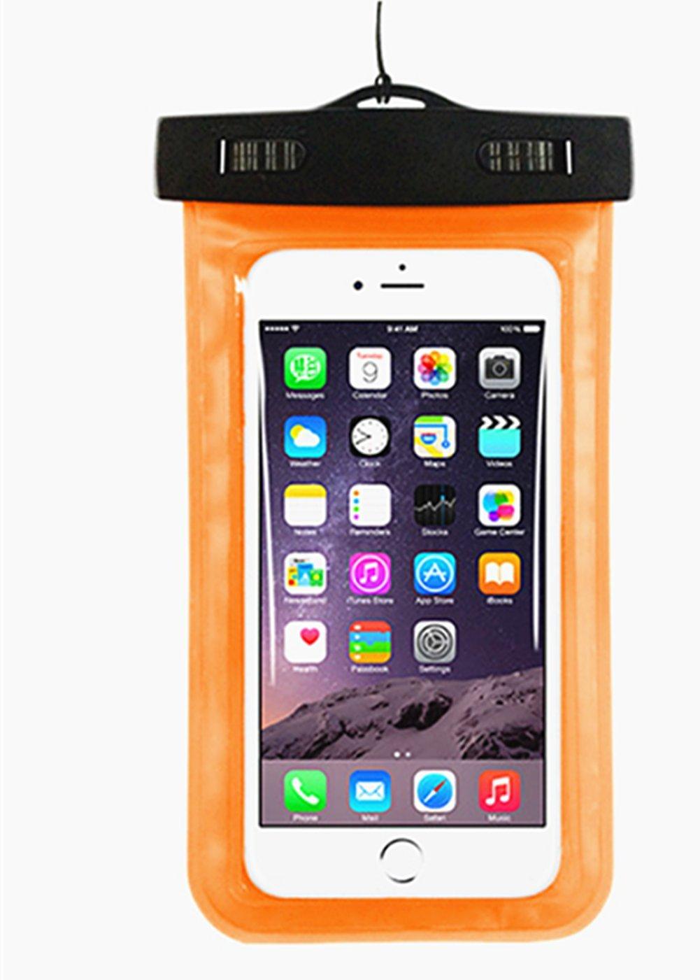 Funda impermeable para la mayor/ía de smartphones con pantalla de 4,8 a 6 pulgadas Da.Wa tama/ño Medium color negro