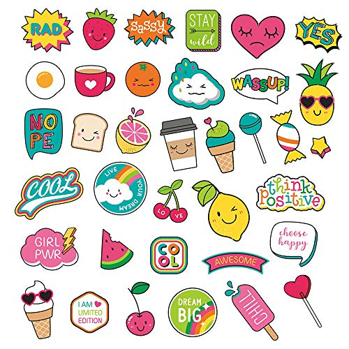 Laptop Stickers (36PCS) - Water Bottles, Hydro Flask Stickers,Waterproof Aesthetic Vinyl Stickers for Kids Teens, Cool Stickers for Hydro Flask Water Bottles Skateboard Computer Phone