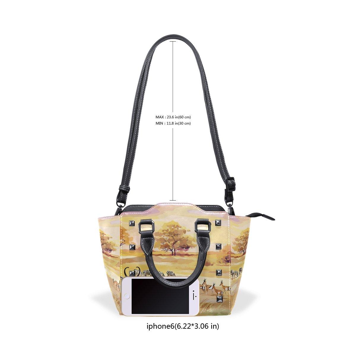 imobaby Antelope Zebra PU Leather Girls Top-Handle Handbags Single-Shoulder Ladies Tote Crossbody Bag Messenger Bags For Women
