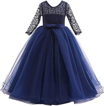 Enfant Filles dentelle nœud Princesse Mariage Performance formelle Robe Tutu Vêtements