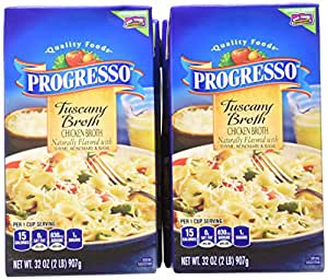 Progresso Chicken Broth, Tuscany, 32-Ounce (Pack of 6)