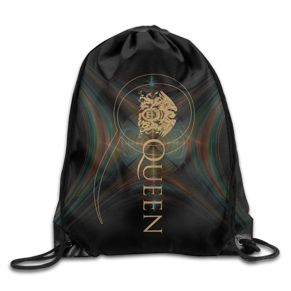 HLKPE Creative Design Freddie Mercury Logo Drawstring Backpack Sport Bag For Men and Women