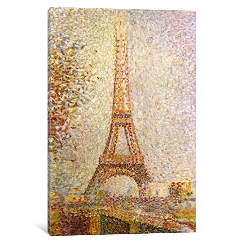 iCanvasART 1706-1PC3-12x8 Icanvas Eiffel Tower Print by Georges Seurat, 8