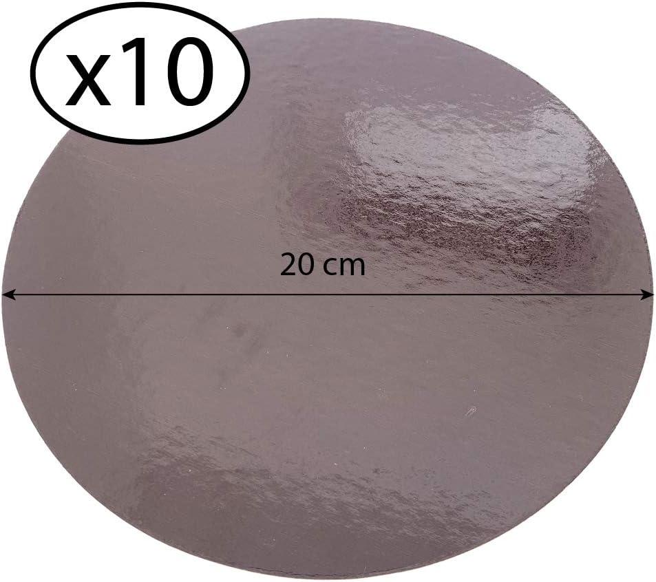Anis//Fushia, 28 cm con Tallas de su elecci/ón Juego de 10 soportes para pasteles en cajas de colores
