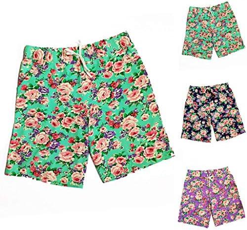 Zantt Mens Printed Quick Dry Elastic Waist Beach Shorts Boardshort Swim Trunk