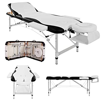 baa48be000cc Massage Table Couch Bed Aluminium Deluxe Lightweight Professional Beauty  Tattoo Spa Reiki Portable Folded 3 Section