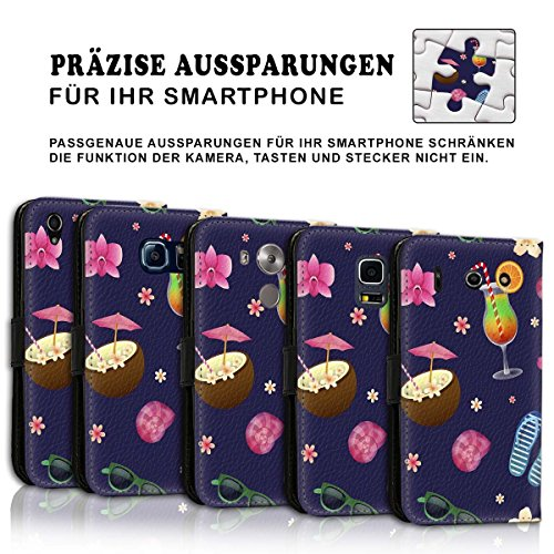 Wallet Book Style Flip Handy Tasche Case Schutz Hülle Schale Motiv Etui für Apple iPhone 5 / 5S - Design Flip MVD256