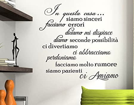 Adesivi Murali Con Citazioni.Stickerdesign Adesivo Murale Wall Stickers Frase In Questa Casa