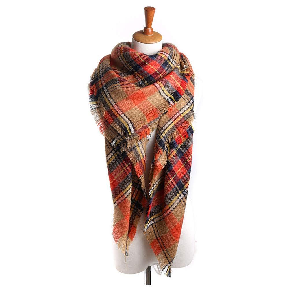 Womens Scarves, Women Fashion Jacquard Cotton Parisian Stripe Shawl Soft Beach Towel Scarf (藏青)