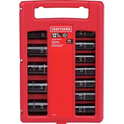 CRAFTSMAN Impact Socket Set, Metric, 1/2-Inch, 12-Piece (CMMT15887)