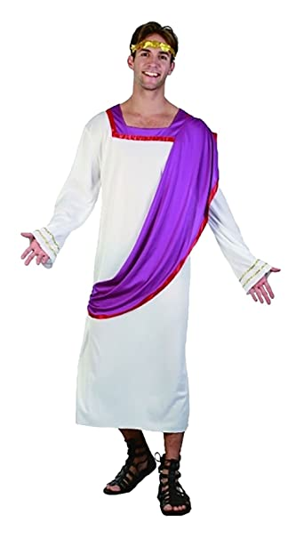 Amazon Com Rimi Hanger Mens Roman Caesar Toga Costume Adults Greek