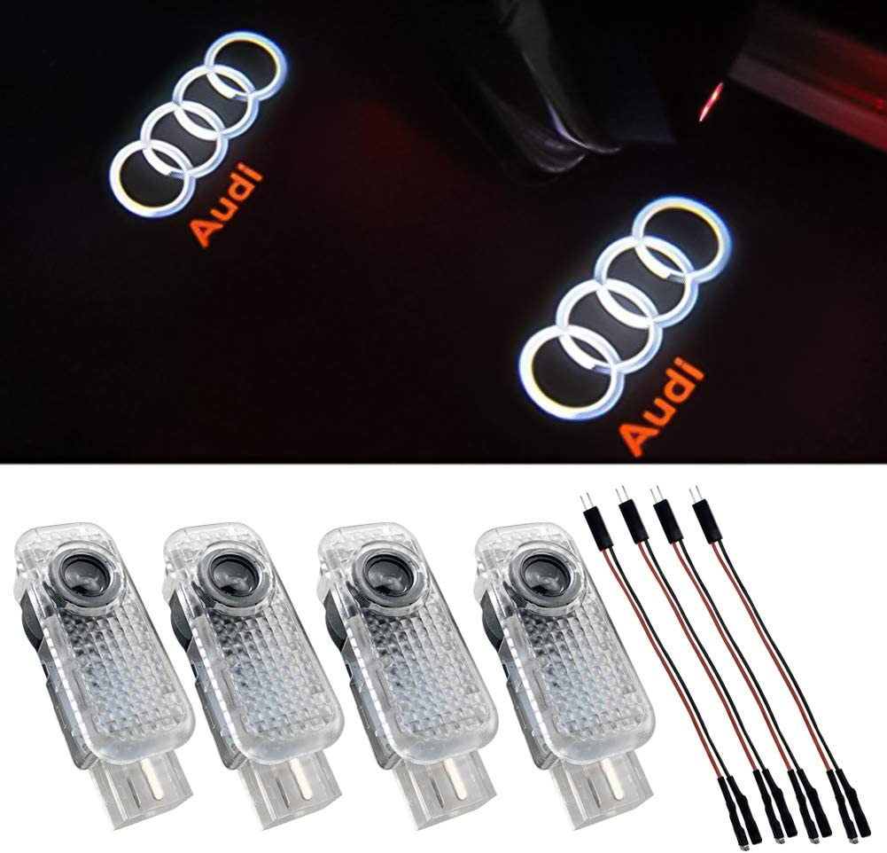 4-Pack Grolish BMW Accessories Car Door LED Logo Lighting Projector Welcome Lights For BMW M