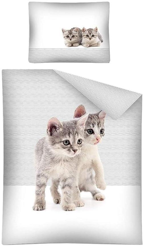Sweet Animals sábanas Funda nórdica Juego de Cama Individual y Funda de Almohada 160 X 200