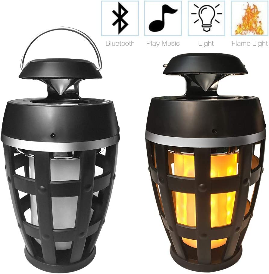 Laduup - Lámpara LED de Llama, Altavoz Bluetooth, luz LED portátil, estéreo, Altavoz Bluetooth para Habitaciones, jardín, Fiestas y Exteriores: Amazon.es: Electrónica