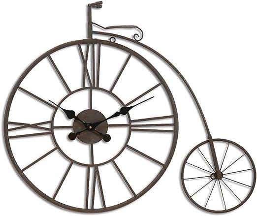 SLAPU - Reloj de Pared para Bicicleta (Hierro Forjado): Amazon.es ...