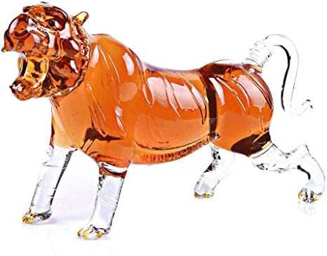 Ampliación de 35 oz Tigre del Rugido Figurita de Vidrio ...