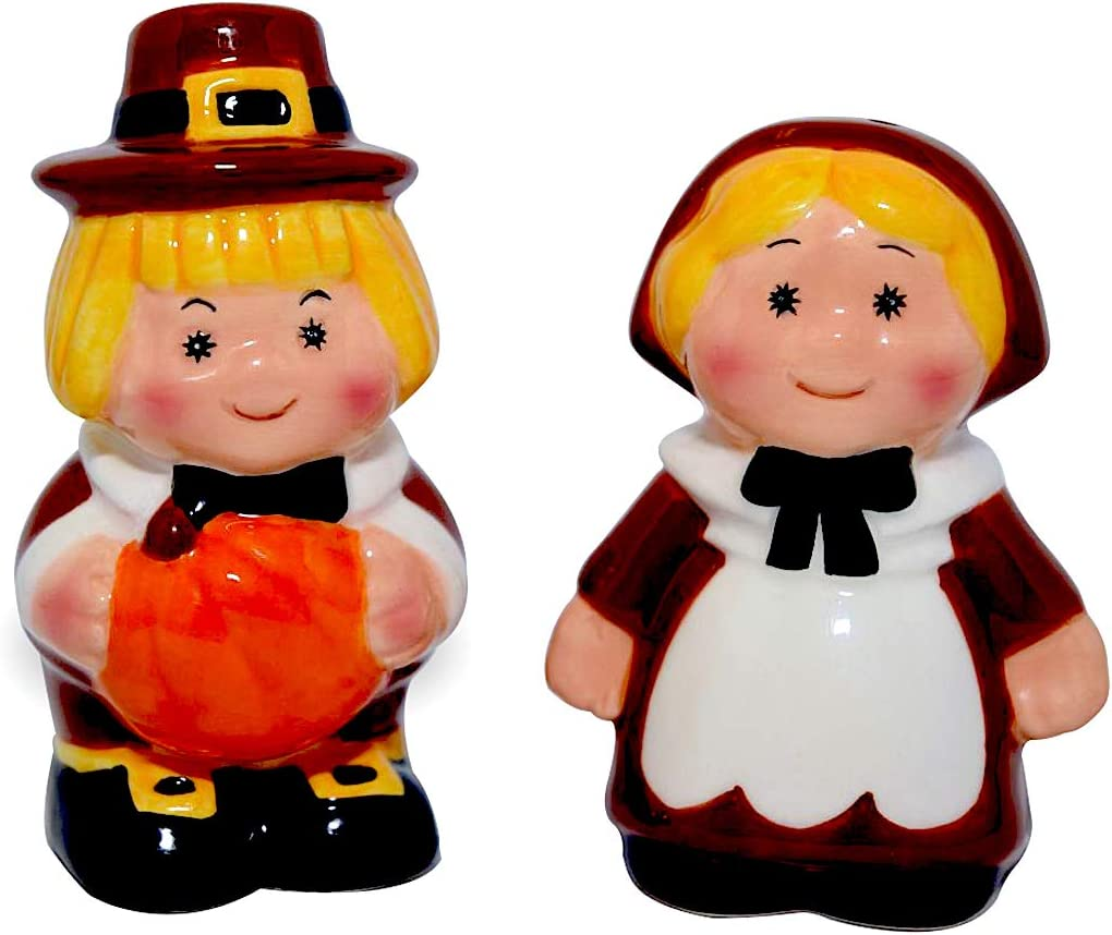 Pilgrims Publix Limited Edition Pair Salt Pepper Shakers Thanksgiving Fall Table