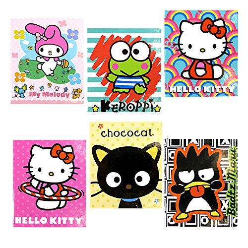 Sanrio Hello Kitty and Friends Mini Notebook Memo Pad Set of 6
