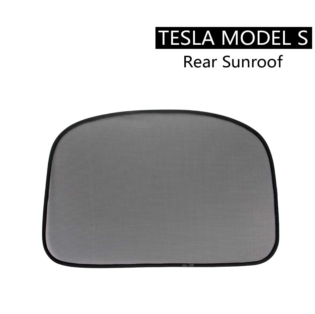ROCCS Tesla Model S Rear Sunroof Sunshade, Windshield Glass Roof Car Skylight Blind Shading Net for Model s 2012 2013 2014 2015
