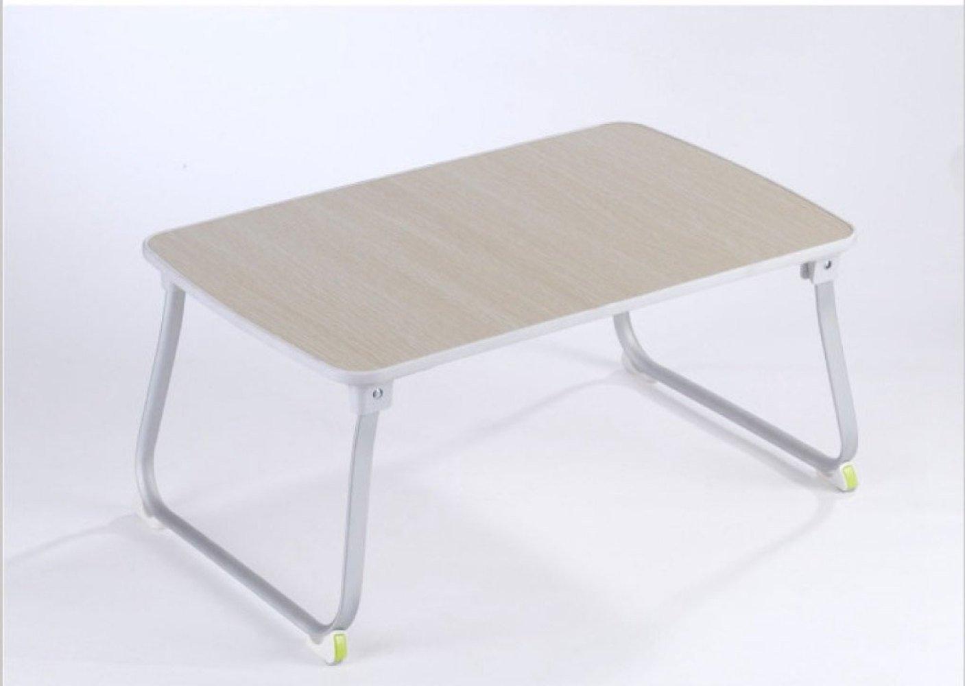 ZEXIKUN Laptop Tisch Bett Schreibtisch Home Lazy Small Tisch Dorman Klapptisch,Weiß