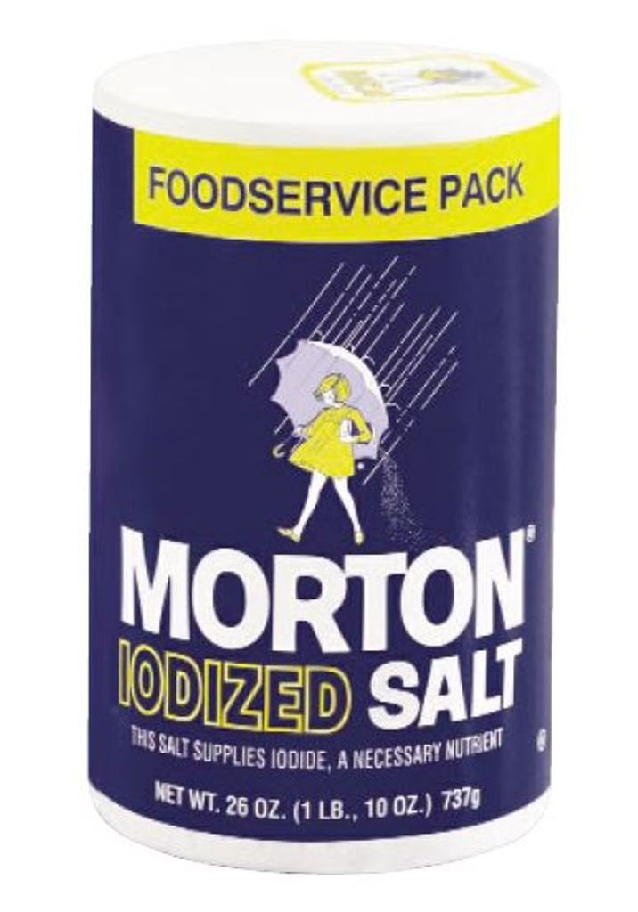 Morton Iodized Table Salt for Foodservice, 26 Ounce (Pack of 24)