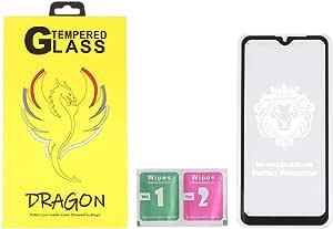 شاشة حماية لاصقة زجاج خماسية الابعاد مضادة لبصمات الاصابع لموبايل اوبو A1k من دراجون - اسود