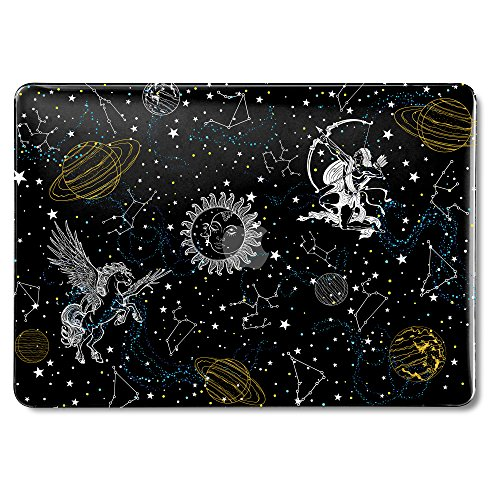 MacBook Air 13 Inch Case Older Version Compatible A1369/A1466 2008-2017 Release NO Touch ID, GMYLE Hard Plastic Shell Matte Scratch Guard Cover for Apple MacAir 13 - Starry Galaxy Constellation