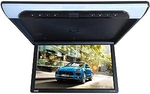 19.4-Inch Overhead Flip-Down Car Monitor - HD 1920x1080p Widescreen Car Roof Mount Monitor, Vehicle Flip Down Overhead Screen w/IR & FM Transmitter, USB, SD, HDMI, AV, Stereo Speaker - Pyle PLRV1925
