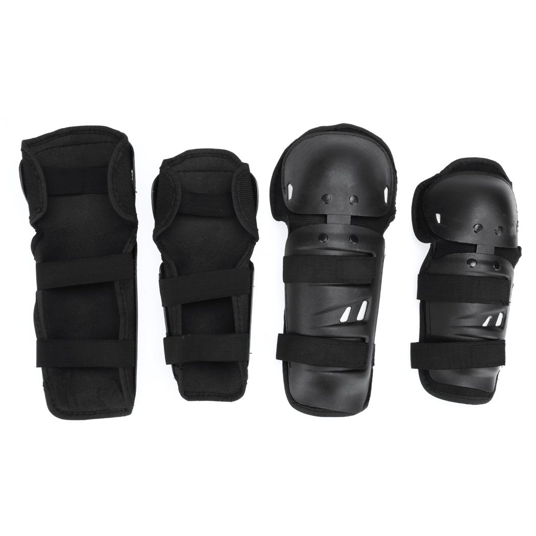 Elbow Pads - All4you 4Pcs Adult BMX Bike Knee Pads Elbow Pads Wrist Guards Protective Gear Set for Biking, Riding, Cycling and Multi Sports, Scooter, Skateboard, Bicycle, Rollerblades