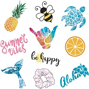 Vsco Girls Stickers for Water Bottles Big 10-Pack Waterproof Cute Aesthetic Trendy Stickers for Teens Kids Girls and Boys, Perfect for Laptop Notebook Tablet Phone Car Travel Extra Durable 100% Vinyl