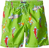 Vilebrequin Kids Boy's Peaceful Carps Swim Trunk (Big Kids) Green Swimsuit Bottoms