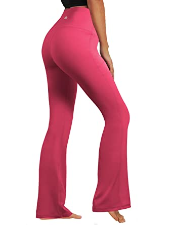 BUBBLELIME Bootcut Yoga Pants High Compression Running Pants High Waist  UPF30+ Non See-Through Fabric