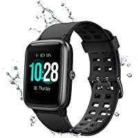 MUZILI Smart Watch 1.3'' Large Color Screen Waterproof Fitness Watch Activity Tracker Heart Rate Monitor Sleep Monitor Pedometer, 8 Sports Modes 10 Days Running time Smartwatch Wrist Band