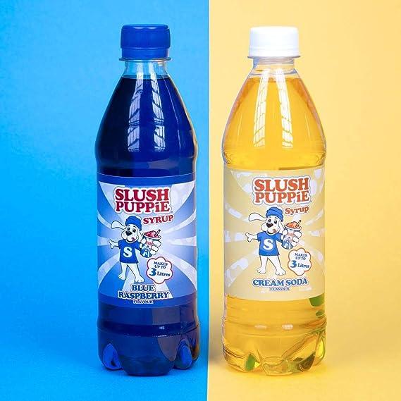 Slush Puppie Syrup 2 Pack Blue Raspberry & Cream Soda: Amazon.es ...