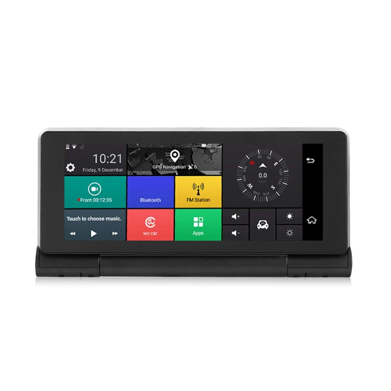 Cámara del Coche DVR HD 3G Android 5.0 GPS Bluetooth Dash CAM 1080P con la cámara Dual