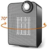 OPOLAR Oscillating Heater, 1500W Powerful Personal Small Space Heater with ETL Listed, Tip-Over and Overheating Protection, Small Electric Ceramic Heater Quiet and Safety for Office Room Under Desk