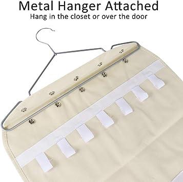 dooppa Dual Lados 40/bolsillos y 20/ganchos para colgar joyas organizador de almacenamiento con gancho de metal