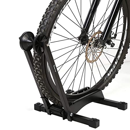 Single Bicycle Rack Mountain Bike Floor Stand Tire Holder Parking Portable Tw
