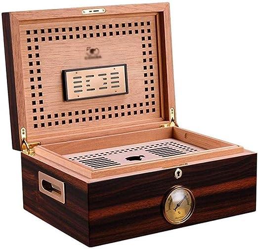 ZXL Caja de Puros, humidor Caja de Puros Humidor de Madera de Cedro Caja de Puros Piano Alta Capacidad Doble Capa: Amazon.es: Hogar